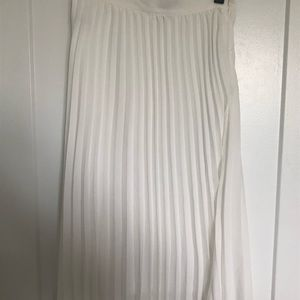 White Accordion Skirt